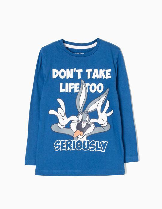 T-shirt Manga Comprida Bugs Bunny