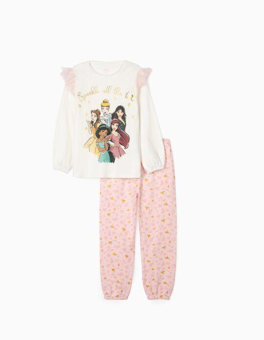 Pijama para Niña 'Disney Princess', Blanco/Rosa