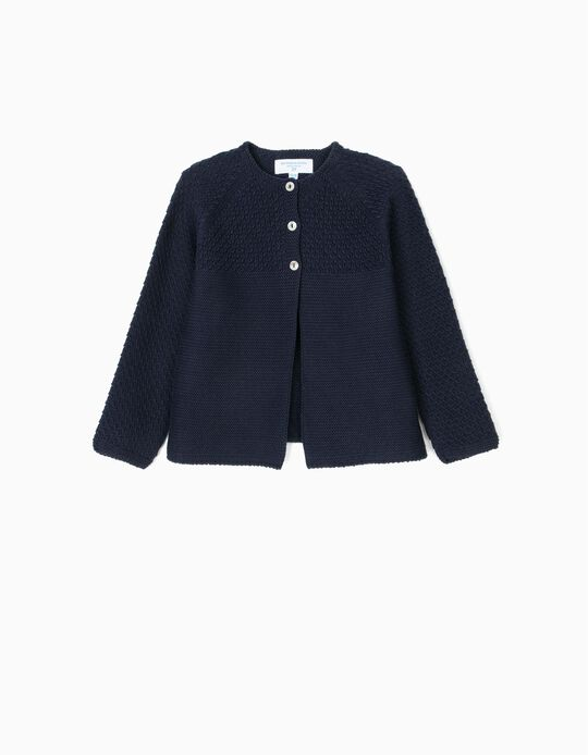 Cardigan for Baby Girls 'B&S', Dark Blue