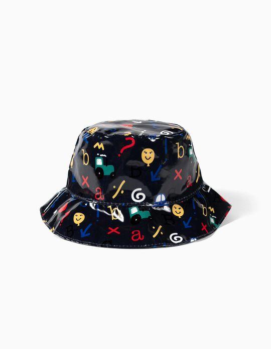 Chapéu de Chuva para Menino 'ABC', Azul Escuro