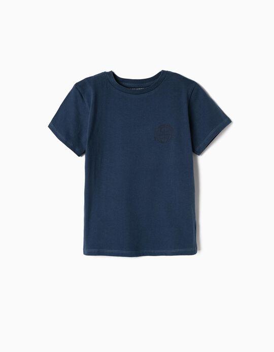 Camiseta para Niño 'Intercontinental Airlines', Azul Oscuro