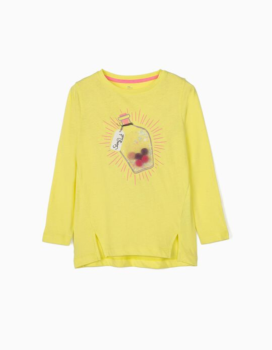 Long Sleeve Top for Girls 'Star Dust', Yellow