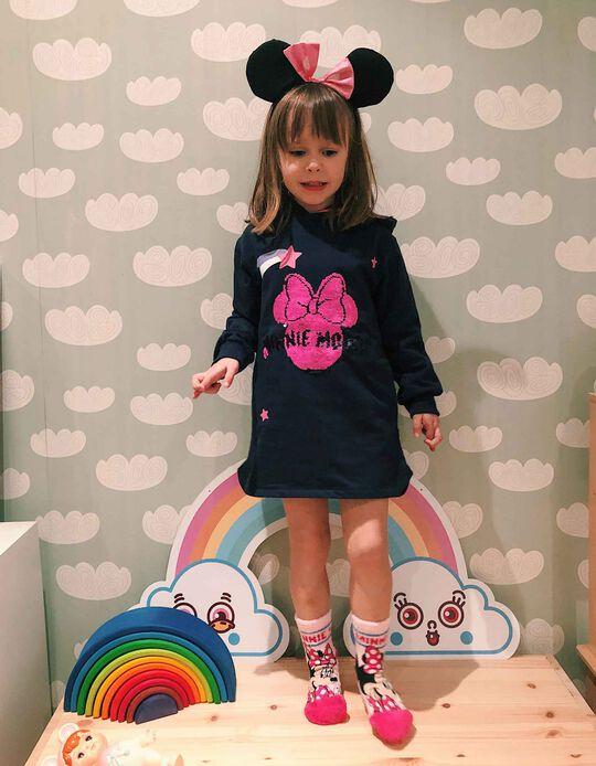 Vestido con Capucha para Niña 'Minnie Mouse', Azul Oscuro