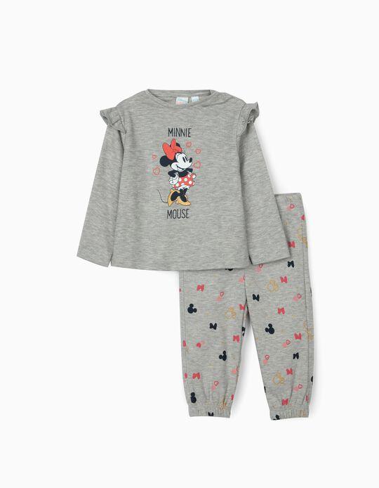 Pijama para Bebé Menina 'Minnie Mouse', Cinza