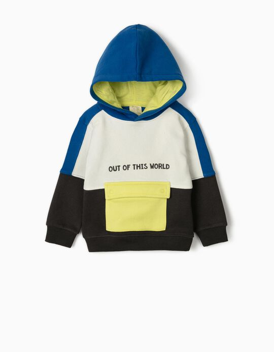 Sweat à capuche bébé garçon 'Out of This World', multicolore