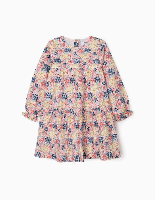 Vestido de Flores para Niña, Multicolor