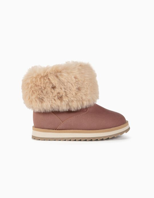 Boots with Faux Fur for Baby Girls, Pink
