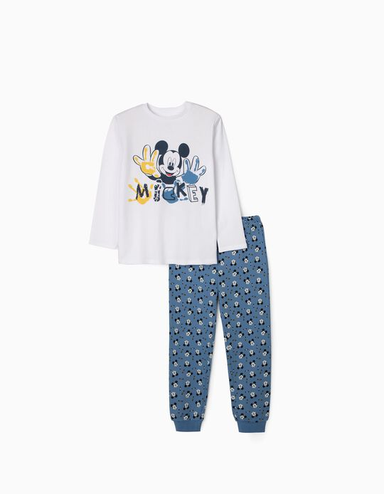 Pyjamas for Boys, 'Mickey', White/Blue