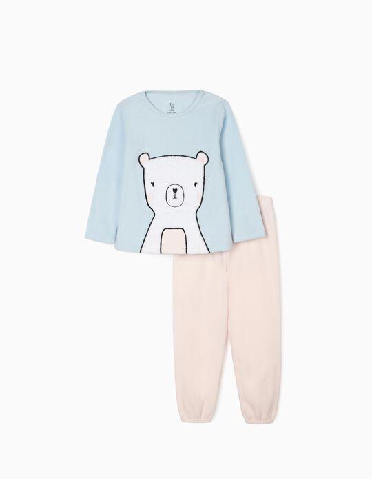 Pijama Polar para Niña 'Bear', Rosa/Azul
