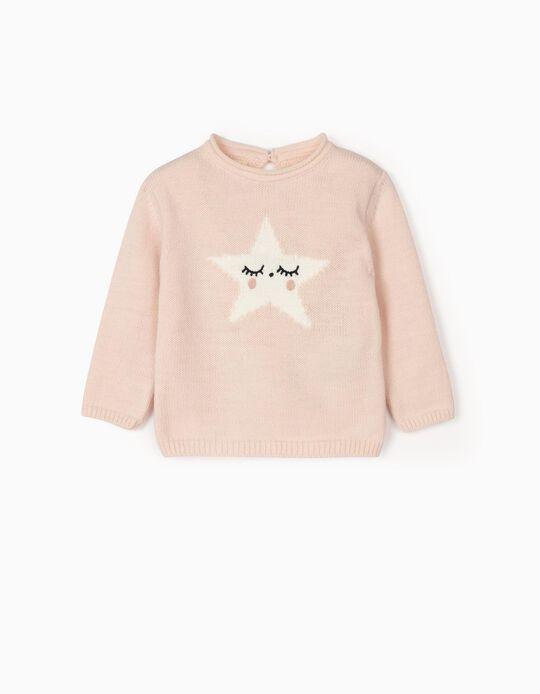 Jersey para Recién Nacida 'Star', Rosa