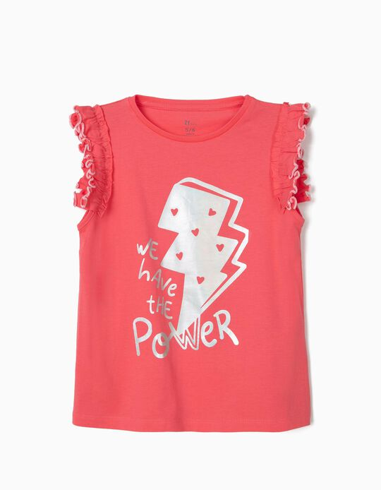 T-shirt Fille 'We Have the Power', Rose