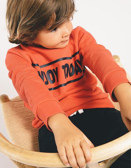 Chándal para Niño 'Enjoy Today', Rojo/Azul Oscuro