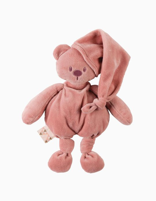 Teddy 36 Cm Lapidou Cuddlies Bear Nattou Old Pink Recycled Polyester