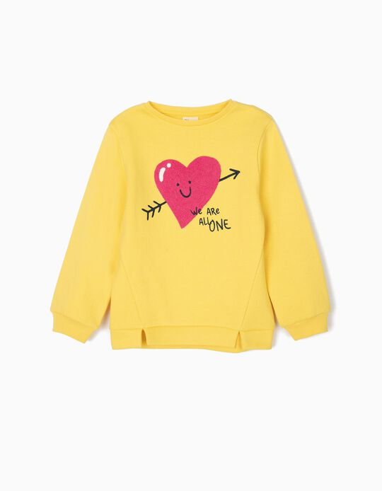 Sudadera para Niña 'We Are All One', Amarilla
