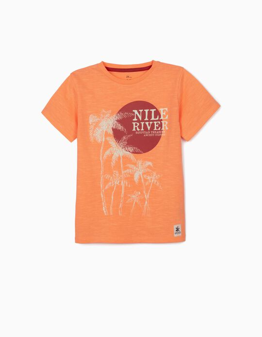 T-shirt for Boys, 'Nile River', Orange