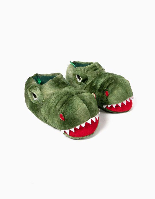 Zapatillas de Casa Verdes Dinosaurio