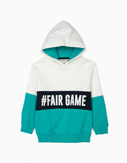 Sweatshirt com Capuz para Menino '#FairGame', Tricolor