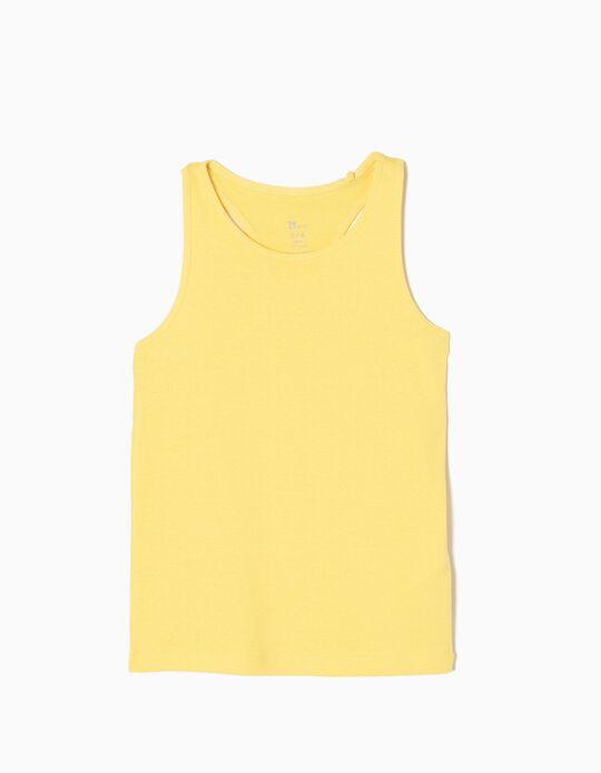 Top sin Mangas Amarillo