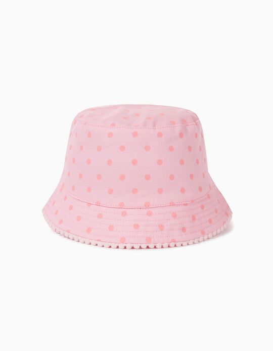 Hat for Girls, 'Dots', Pink