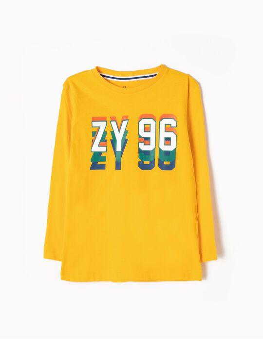 Camiseta de Manga Larga ZY 96 Amarilla
