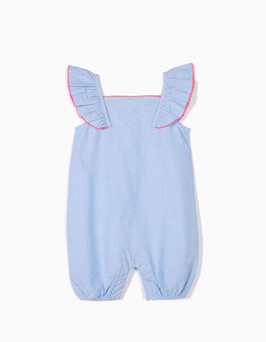Macacão para Bebé Menina 'Dots', Azul