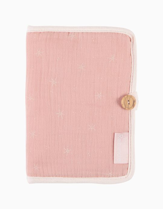 Porta Documentos Musselina Stars Pink