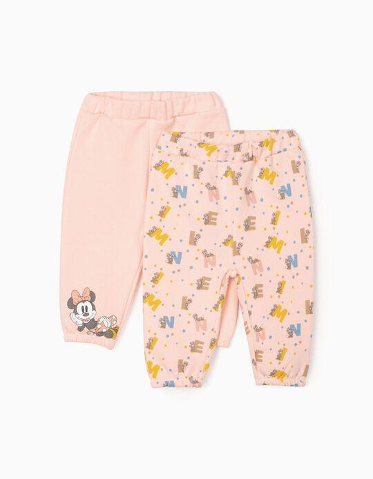 2 Pantalons Nouveau-Née 'Minnie', Rose