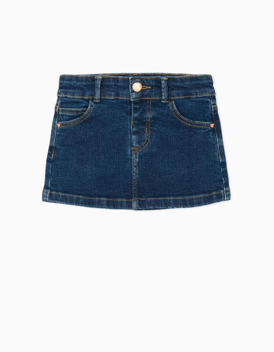 Denim Skirt for Baby Girls, 'Comfort Denim', Dark Blue