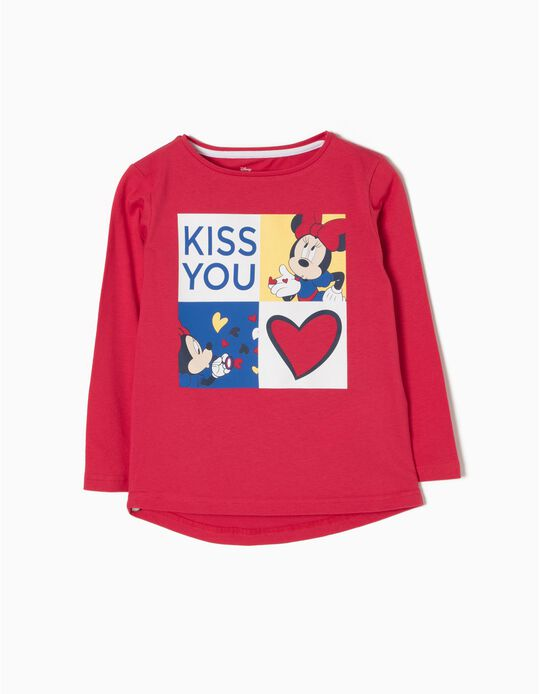 Camiseta de Manga Larga Kiss You Minnie