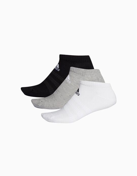 3 Pairs of Short Socks for Children 'Adidas', Multicoloured