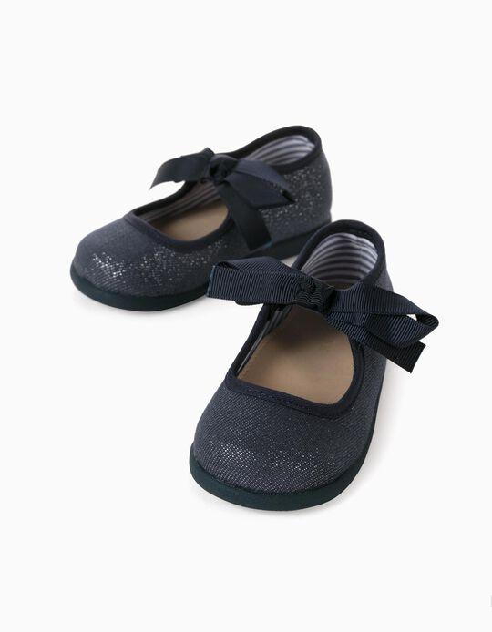 Shimmery Trainers for Baby Girls 'ZY Ballerina', Dark Blue