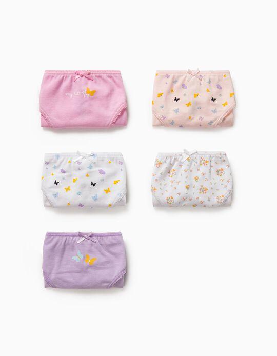 5 Braguitas para Niña 'Butterflies', Multicolor