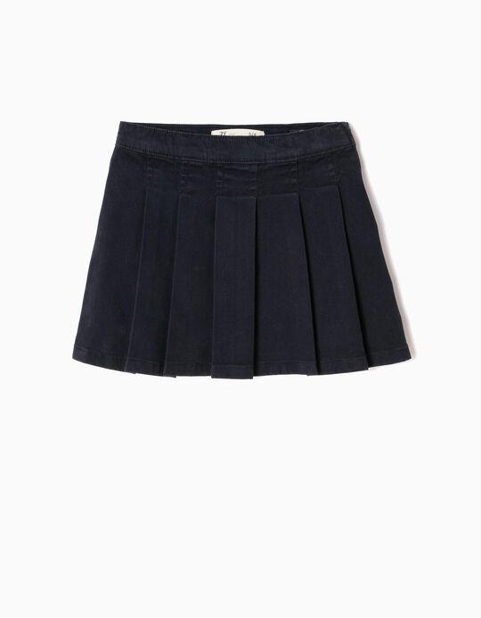 Falda de Pliegues Azul