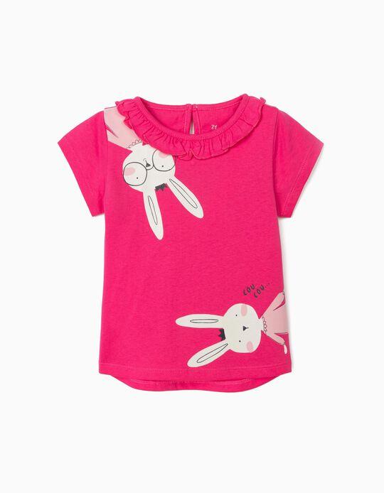 Camiseta para Bebé Niña 'Cou Cou', Rosa