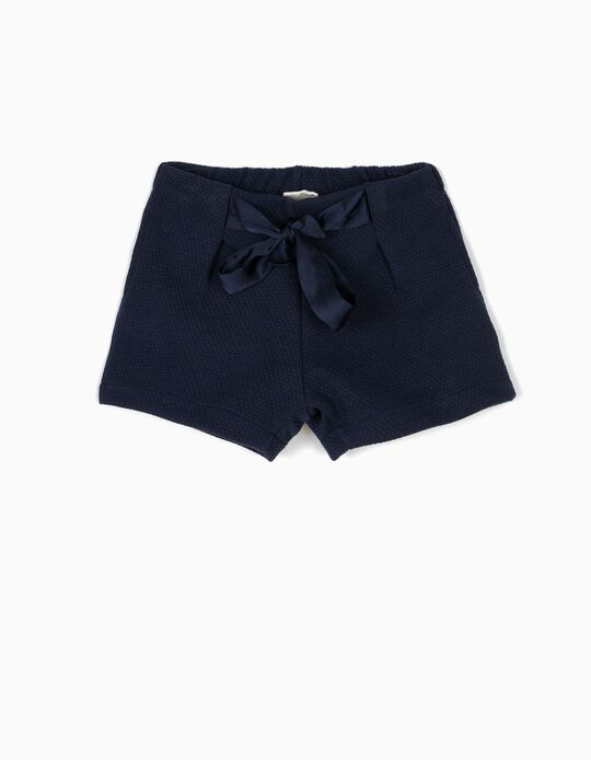 Short Azul Oscuro con Relieve