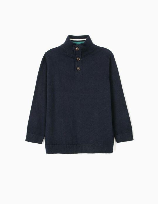 Jersey con Coderas para Niño, Azul Oscuro