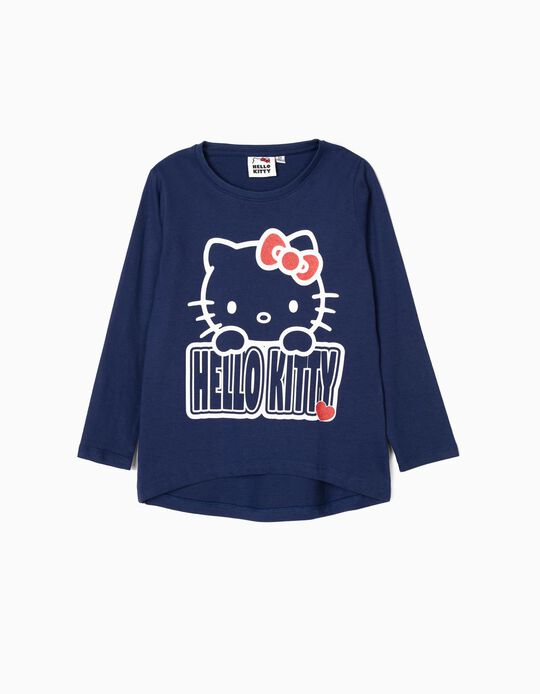 Camiseta de Manga Larga para Niña 'Hello Kitty', Azul
