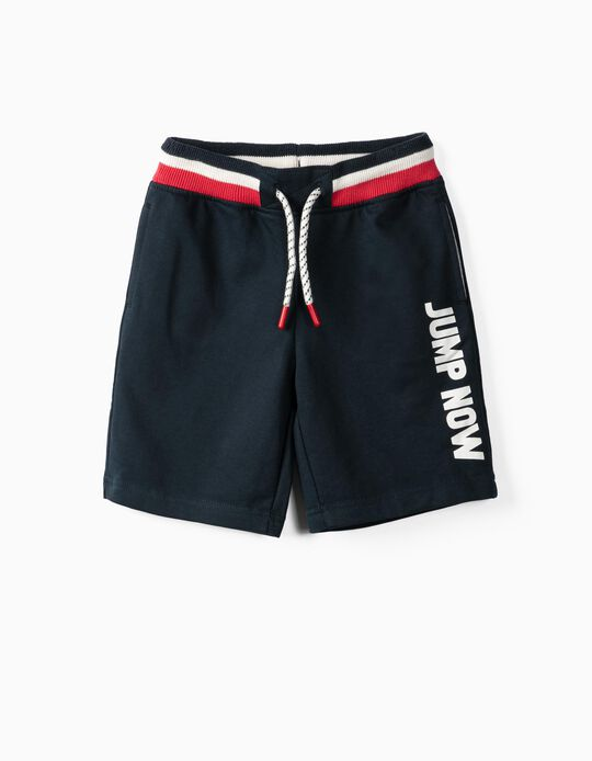 Pull-On Shorts for Boys 'Jump Now', Dark Blue