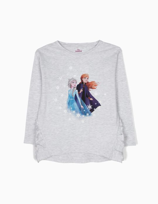 Camiseta de Manga Larga Frozen Gris