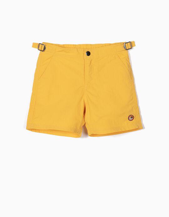 Bañador Short para Niño, Amarillo