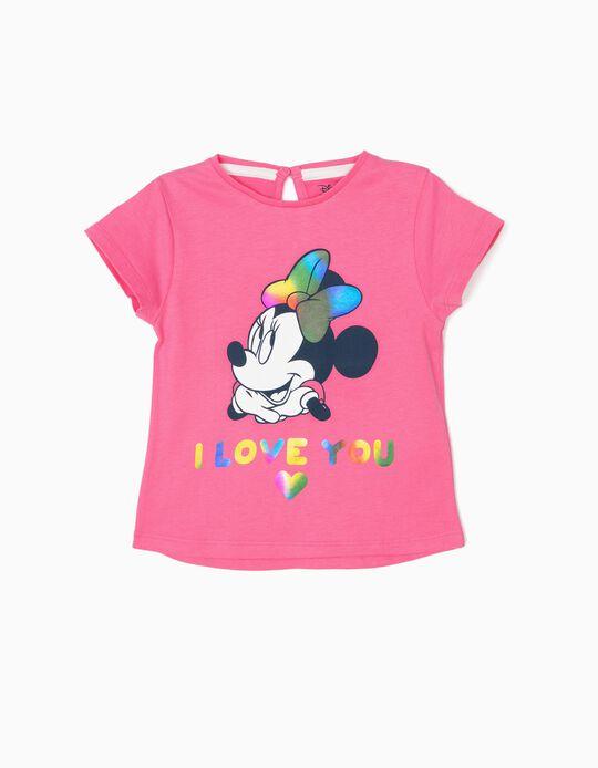 T-shirt para Bebé Menina 'Minnie Love', Rosa