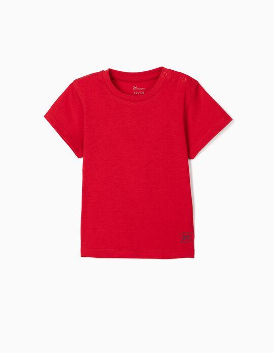 T-shirt para Bebé Menino, Vermelho