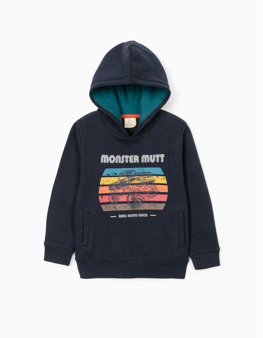 Sweat-Shirt Garçon 'Monster Mutt', Bleu Foncé