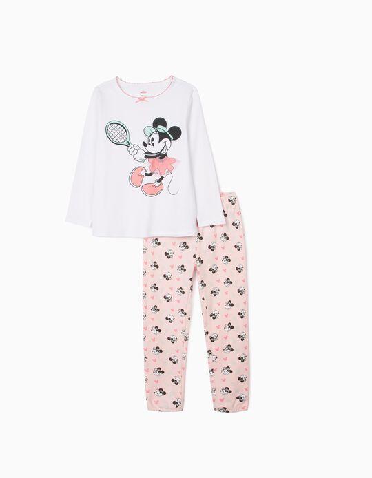 Pyjamas for Girls, 'Minnie Tennis', White/Pink