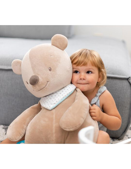 Cuddly Basile the bear 75 cm, by Nattou