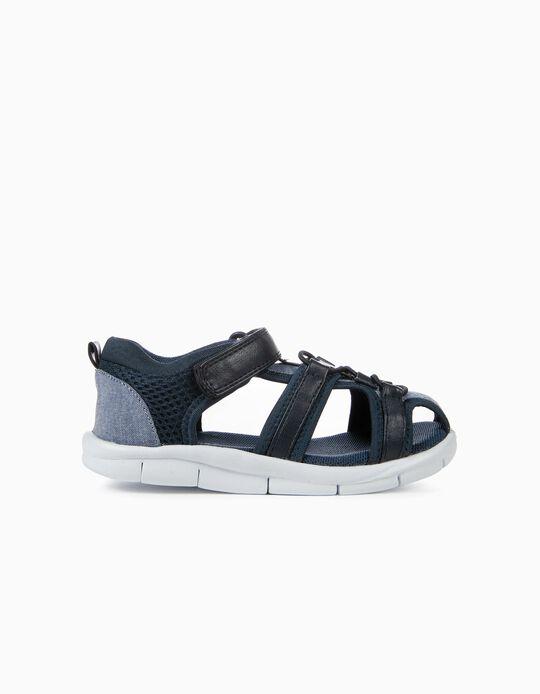 Sandálias para Menino, Azul Escuro