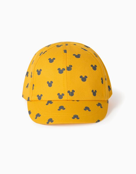 Cap for Baby Boys, 'Mickey Mouse', Yellow