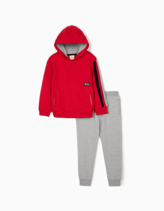 Tracksuit for Boys, 'ZY 1996', Red/Grey
