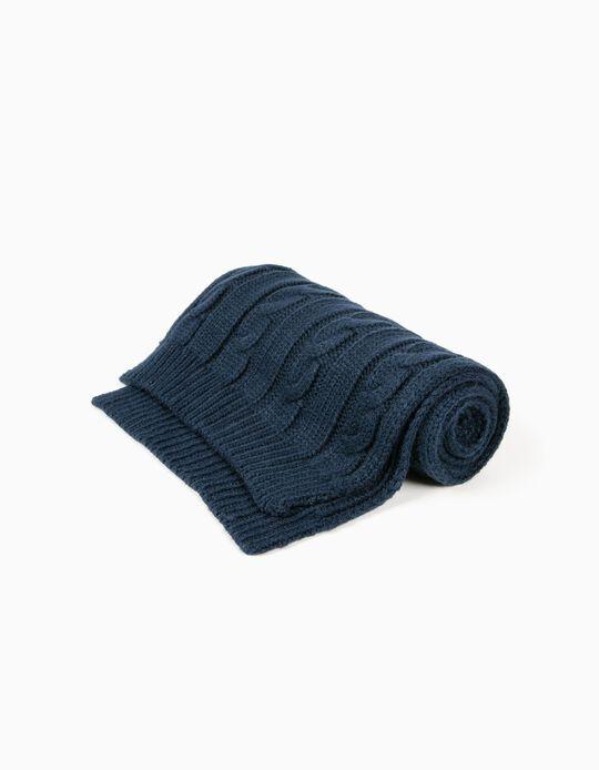 Cachecol Tricotado Azul