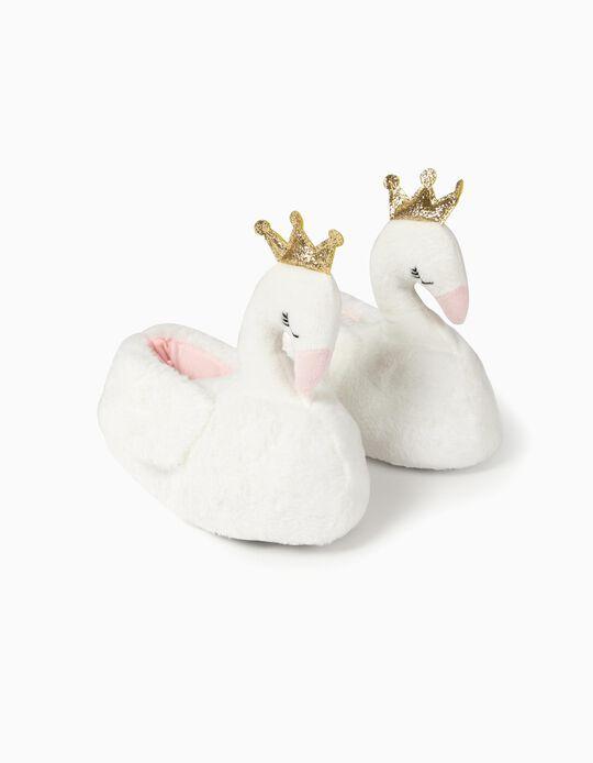Slippers for Girls 'Swan Princess', White